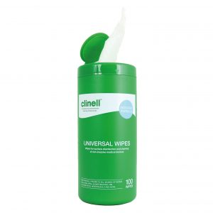 clinell canister 100 wipes - nayble