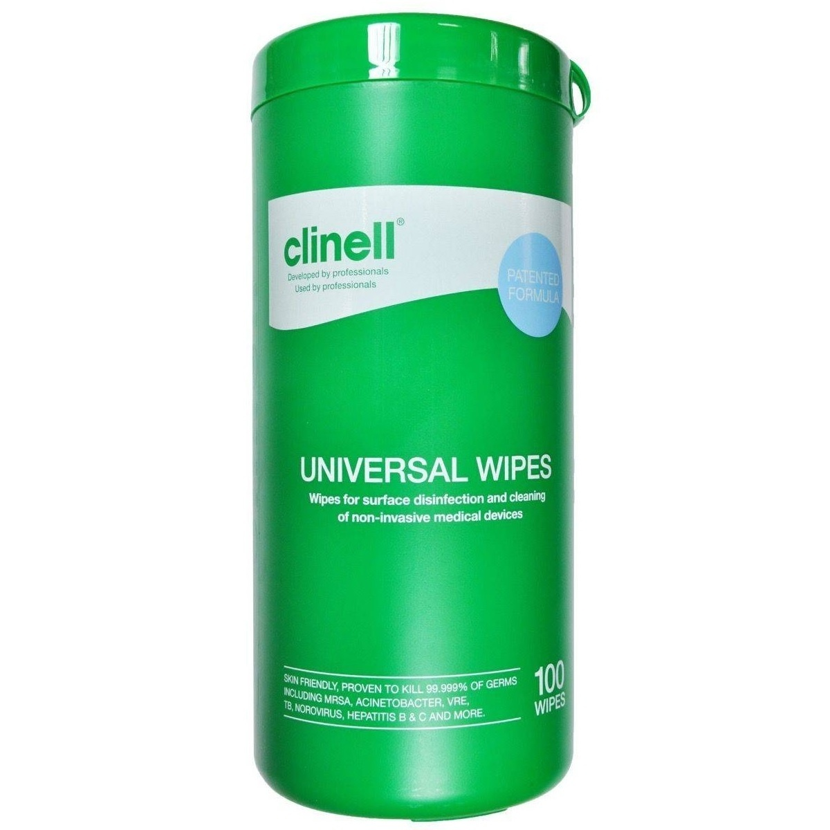 clinell tub of 100 wipes - nayble