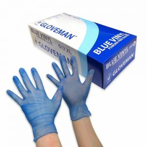 Gloveman G12 Blue Vinyl Gloves - Nayble Ltd