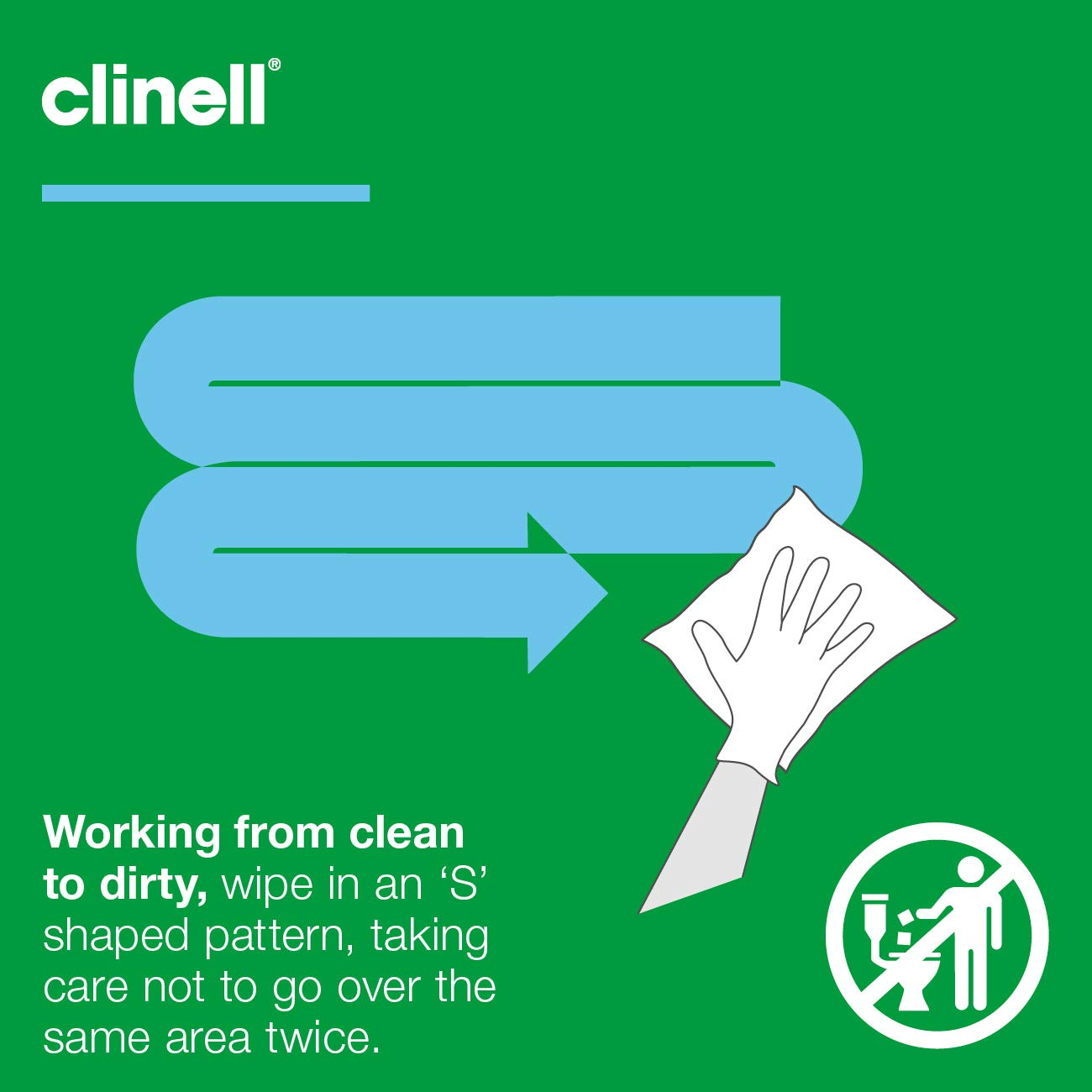 Clinell Universal Wipes – Refill Pack of 100 Wipes - Nayble Ltd