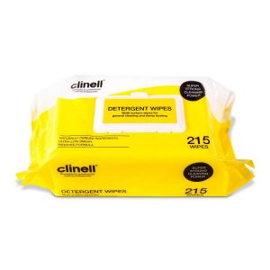 Clinell Detergent Wipes - Soft Pack of 215 Wipes - Nayble Ltd
