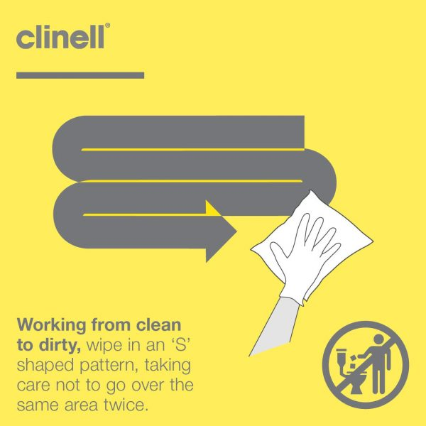 Clinell Detergent Wipes - Refill 260 Wipes - Nayble Limited